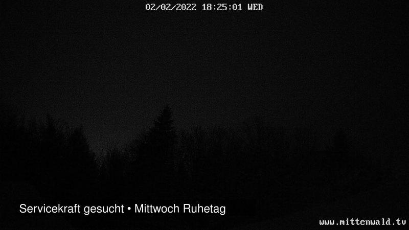 Live Blick auf den Karwendel von der Ederkanzel