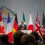 Abschlussrede von US Präsident Barack Obama im Briefingcenter in der Elmau
