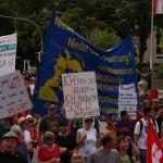 Dir große Demonstration zu G7 Gipfel in Garmisch