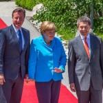 Cameron Merkel und ihr Gatte