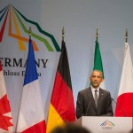 Rede des US Präsidneten Barack Obama in der Elmau