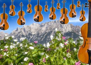 In Mittenwald hängt der Himmel voller Geigen