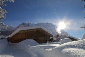 Schneemassen an der Gröblalm