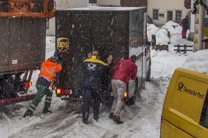 Die Post schiebt UPS aus dem Matsch