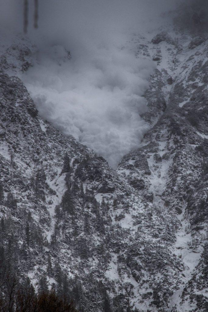 Staublawine am Karwendel