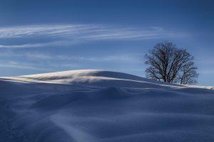 Verschneiter Ausblick bei Wamberg